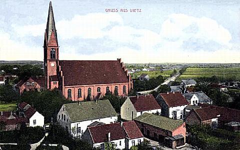 Vietz bei Landsberg/Warthe -- Stadtansicht